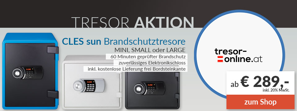 CLES sun Aktion auf tresor-online.at