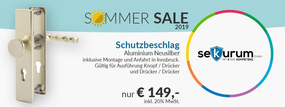 Sekurum Sommer Sale 2019 Schutzbeschlag